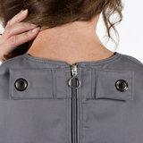 anti-scheurbody zonder mouw, korte pijp en rugritssluiting ring