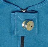 Anti-scheurbody met krote mouw, korte pijp en rugritssluiting ring voor slotje