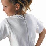 Kinderbody met rits en korte pijp met rits achterkant