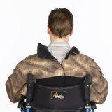 Winter jack rolstoeljas leger motief detail foto