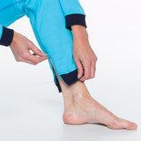 Hansop tricot zonder voet met rugritssluiting en rits in kruis detail pijp
