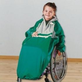 Kinder regencape voor rolstoelgebruiker