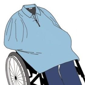 Cape van jasstof met ritsje zonder mouw