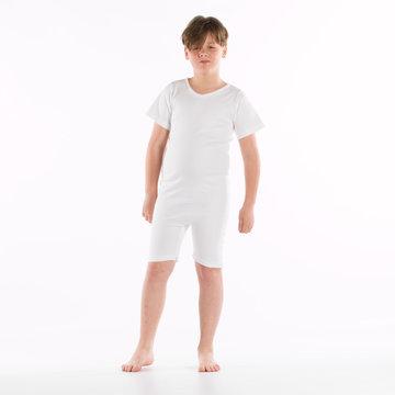 Kinderbody met rits en korte pijp met rits