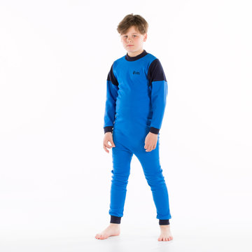 Kinderhansop tricot zonder voet met rugritssluiting