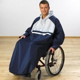 Regencape voor de volwassen rolstoelgebruiker