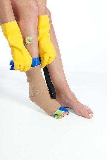 Rubberen steunkous handschoenen