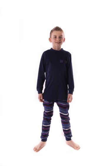 Kinderhansop dessin jersey zonder voet met rugritssluiting