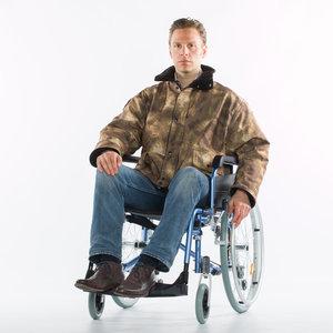 Winter jack rolstoeljas leger motief