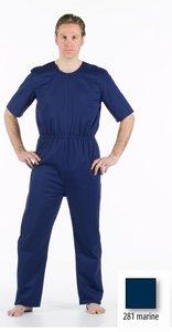 Anti-scheurbody met korte mouw, lange pijp en rug ritssluiting marine blauw