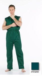 anti-scheurbody zonder mouw, lange pijp en rugritssluiting groen